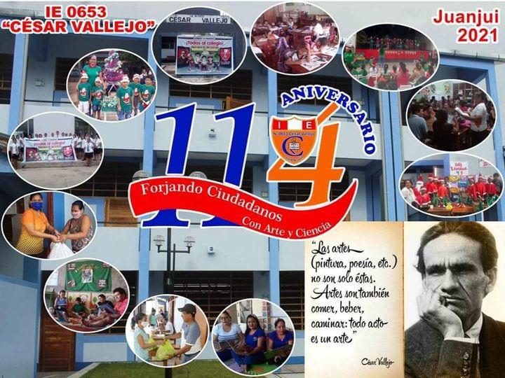 .E. César Vallejo de Juanjui cumple 114 años de creación