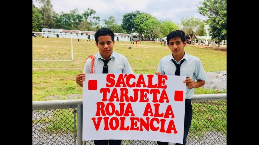 UGEL MC CONVOCA A CONCURSO ESCOLAR DE PANCARTAS ALUSIVO A LA CAMPAÑA SÁCALE TARJETA ROJA A LA VIOLENCIA